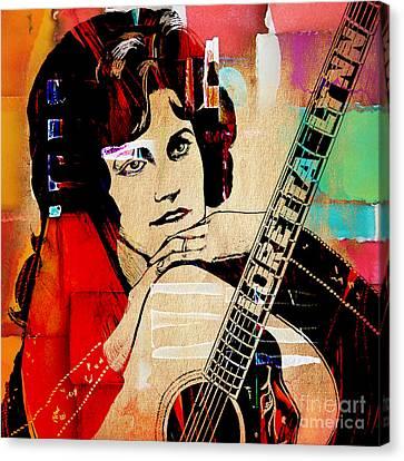 Canvas Loretta Lynn and Conway Twitty Art print POSTER