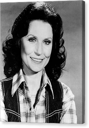 Charts Canvas Print - Loretta Lynn Smiling by Retro Images Archive