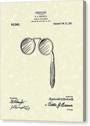 Lorgnette 1917 Patent Art Canvas Print
