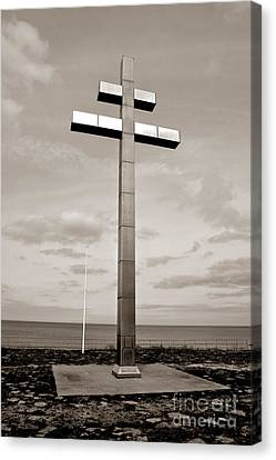Lorraine Cross In Normandy Canvas Print by Olivier Le Queinec
