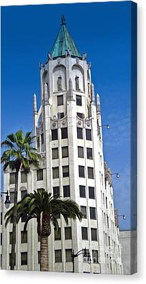 Los Angeles - Hollywood And Highland Canvas Print by Gregory Dyer