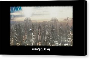 Los Angeles 2019 Canvas Print by Brainwave Pictures
