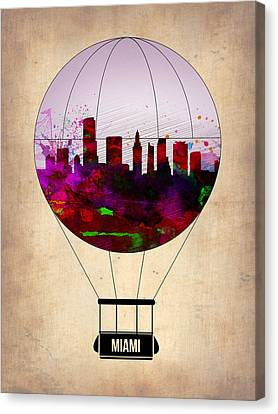Miami Air Balloon 1 Canvas Print by Naxart Studio