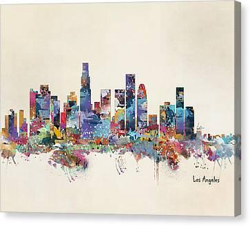 Los Angeles California Skyline Canvas Print