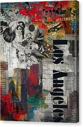 Los Angeles Collage Alternative Canvas Print by Corporate Art Task Force