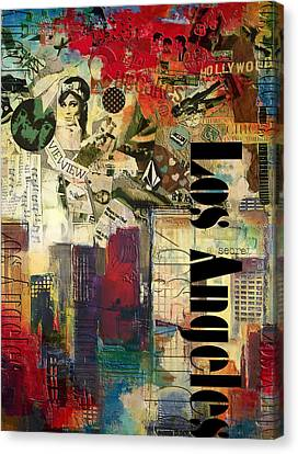 Los Angeles Collage  Canvas Print by Corporate Art Task Force