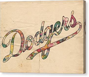 Dodgers Canvas Print - Los Angeles Dodgers Poster Vintage by Florian Rodarte