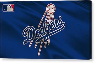 Los Angeles Dodgers Uniform Canvas Print by Joe Hamilton