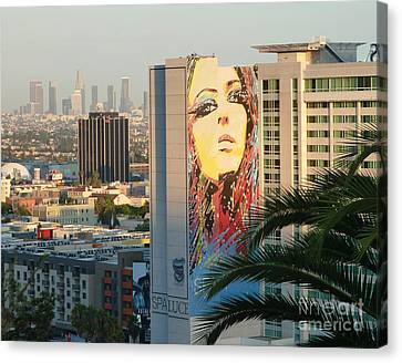 Los Angeles Golden Hour Canvas Print by Cheryl Del Toro