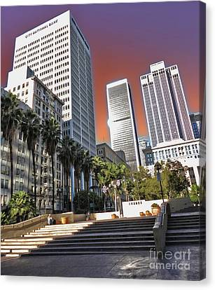 Los Angeles Historic Center Canvas Print by Gregory Dyer
