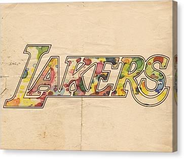 Los Angeles Lakers Logo Art Canvas Print