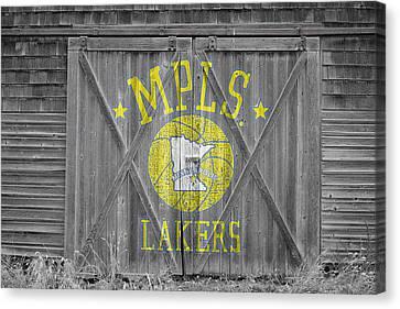 Los Angeles Milwaukee Lakers Canvas Print by Joe Hamilton