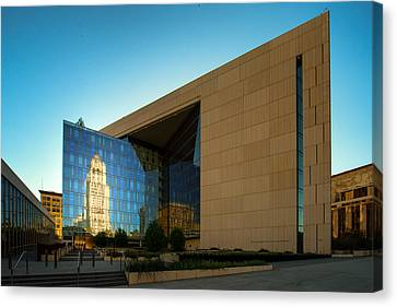 Los Angeles Police Dept Headquarters Canvas Print by Celso Diniz