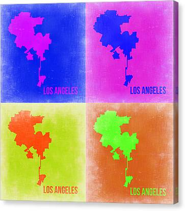 California Map Canvas Print - Los Angeles Pop Art Map 2 by Naxart Studio