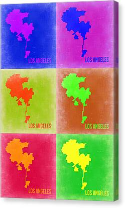 California Map Canvas Print - Los Angeles Pop Art Map 3 by Naxart Studio