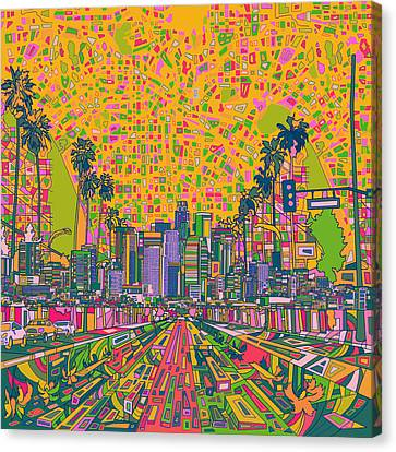 Los Angeles Skyline Abstract Canvas Print