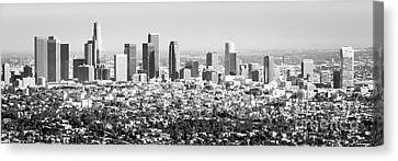 Los Angeles Skyline Panorama Photo Canvas Print by Paul Velgos