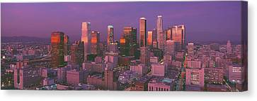 Los Angeles, Skyline, Sunset, California Canvas Print