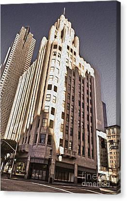 Los Angeles  - Title Guarantee Building Canvas Print by Gregory Dyer
