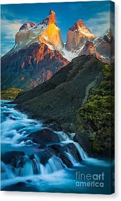 Los Cuernos Falls Canvas Print by Inge Johnsson