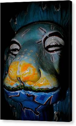 Borinquen Scene Canvas Print - Los Muelleros By Diogenes Ballester by Penelope  Griffin-Rosado