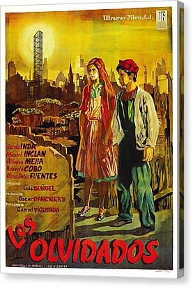 Los Olvidados, Mexican Poster Art, 1950 Canvas Print by Everett