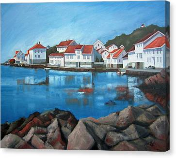 Canvas Print featuring the painting Loshavn by Janet King