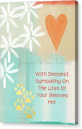Loss Of Beloved Pet Card Canvas Print by Linda Woods