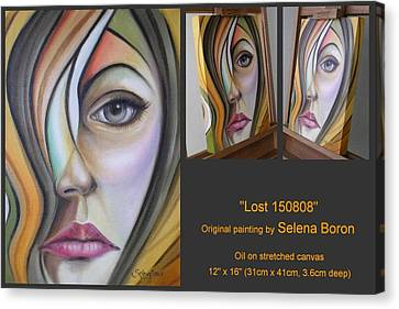 Canvas Print featuring the painting Lost 150808 by Selena Boron