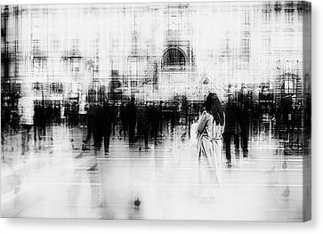Long Street Canvas Print - Lost Among Ghosts by Inna Blar