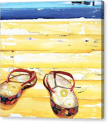 Beach Art Canvas Print - Lost At Sea by Danny Phillips
