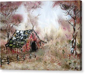 Lost Barn Canvas Print by The GYPSY And DEBBIE
