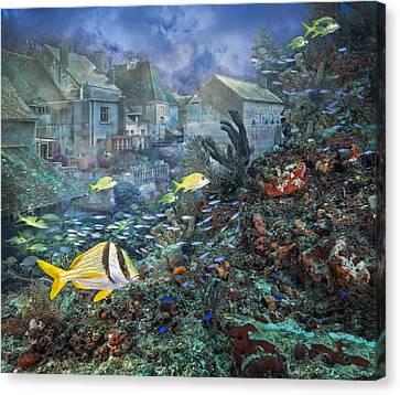 Lost City Canvas Print by Debra and Dave Vanderlaan