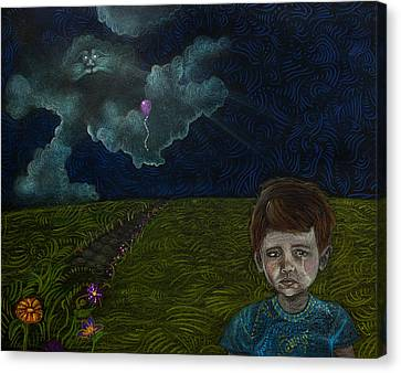 Balloon Flower Canvas Print - Lost Dream  by Angelica  Hoyos