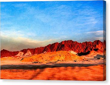 Lost Egyptian Landscape Canvas Print by Mark E Tisdale