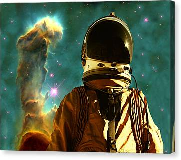 Science Fiction Canvas Print - Lost In The Star Maker by Matthew Lacey