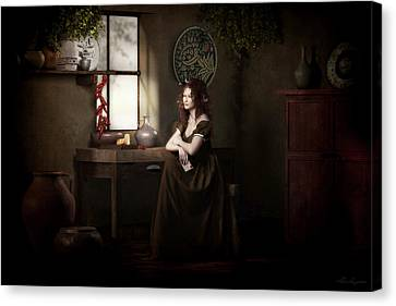 Country Kitchen Canvas Print - Lost In Thought by Shanina Conway