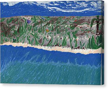Canvas Print featuring the painting Lost Island by Kim Pate