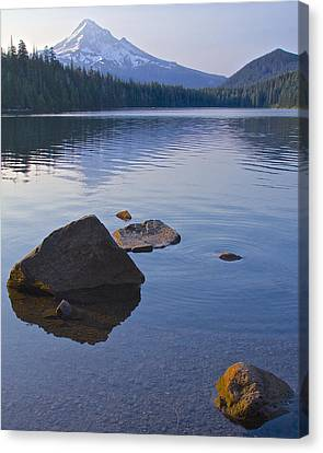 Canvas Print featuring the photograph Lost Lake Morning 81014 by Todd Kreuter