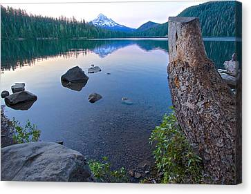 Canvas Print featuring the photograph Lost Lake Morning 81014b by Todd Kreuter