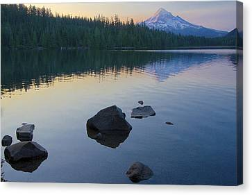 Canvas Print featuring the photograph Lost Lake Morning 81014c by Todd Kreuter