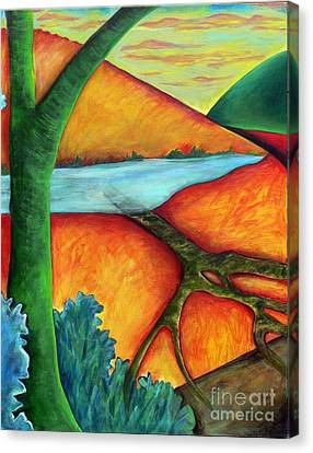 Canvas Print featuring the painting Lost Land 1 by Elizabeth Fontaine-Barr