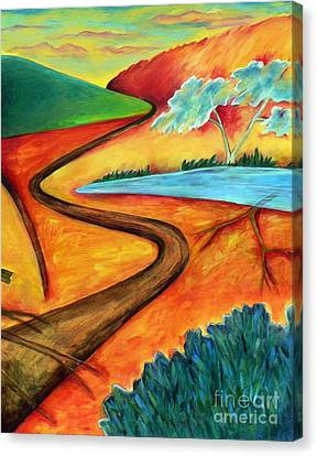 Canvas Print featuring the painting Lost Land 2 by Elizabeth Fontaine-Barr