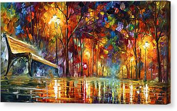 Benches Canvas Print - Lost Love by Leonid Afremov
