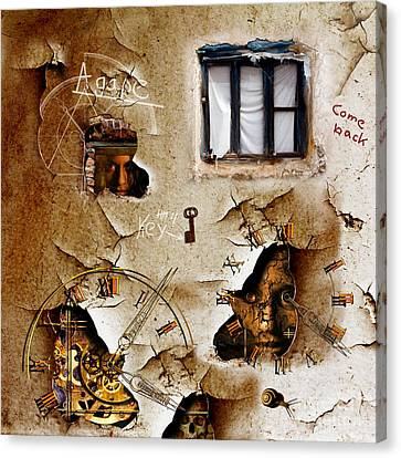 Lost Memories Behind My Longing Window Canvas Print