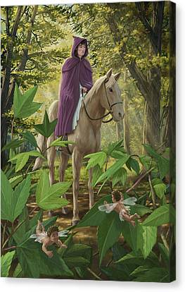 Lost Princess On Horseback Canvas Print by Martin Davey