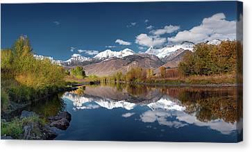 Lost River Range Reflection Canvas Print by Leland D Howard