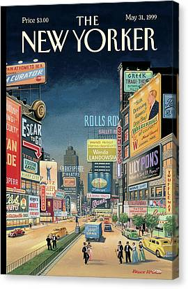 Lost Times Square Canvas Print by Bruce McCall