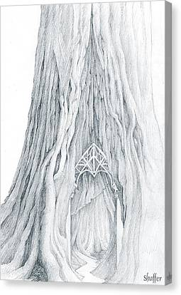 Lothlorien Mallorn Tree Canvas Print by Curtiss Shaffer
