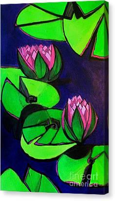 Lotus 2 Botanical Flowers Canvas Print